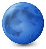 Un planeta azul — Vector de stock