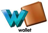 一个钱包 — 图库矢量图片