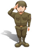 A handsome soldier — Stock Vector