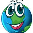 Smiling planet Earth — Stock Vector #51143423