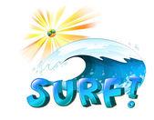 Surfing artwork — Stock Vector