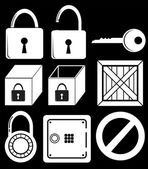 Locking devices — Stock Vector