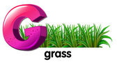A letter G for grass — Stock Vector