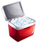 A bucket of icecubes — Stock Vector
