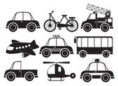 Different type of vehicles — Stock Vector