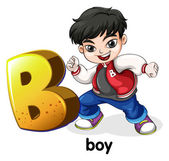 A letter B for boy — Stock Vector