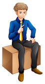 A man sitting — Stock Vector