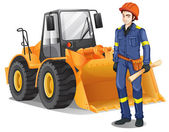 A construction engineer — Stock Vector