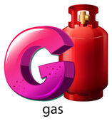 A letter G for gas — Vector de stock