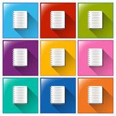 Iconos de cuaderno — Vector de stock