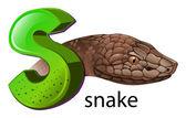 A letter S for snake — Stock Vector