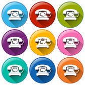 Telephone icons — Stock Vector