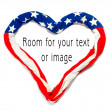 American heart on white background. Great for Independence Day brochures and advertising. — Stock Photo