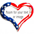 American heart on white background. Great for Independence Day brochures and advertising. — Stock Photo #12713026
