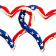 American hearts on white background. Great for Independence Day brochures and advertising. — Stock Photo #12713031