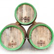 Three vintage beer barrels. — Stock Photo #12713187