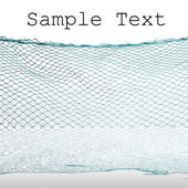Fishing-net and easy removable text. — Stock Photo