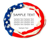 Circle frame make out of American Flag, isolated on white background. Great for Independence Day brochures and advertising. — Stock Photo