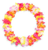 Frame from flowers necklace. — Stock Photo