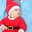 Cute baby dressed as Santa. — Lizenzfreies Foto