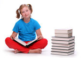 Portrait of a pretty girl with books. — Stock Photo