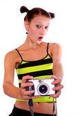 Funny photographer. — Stock Photo