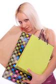 Mujer con bolsa de compras. — Foto de Stock