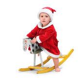 Barn klädd i santa claus klädedräkt — Stockfoto