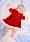 Lindo bebé disfrazado de santa — Foto de Stock