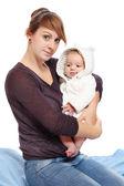 Jovem mãe com seu bebê. — Foto Stock