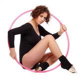 Foto de uma mulher jovem e desportiva — Foto Stock