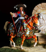 French knight with lance. — Stock Photo