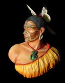 Carved Maori Warrior — Stock Photo