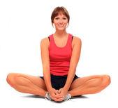 Schot van een sportieve jonge vrouw. actieve levensstijl. — Stockfoto