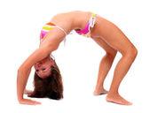 Foto de una mujer joven deportiva. estilo de vida activo. — Foto de Stock