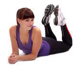 Colpo di una giovane donna sportiva. stile di vita attivo. — Foto Stock
