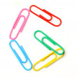 Colorful letter from paperclips.  — Stock Photo