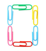 Colorful letter O from paperclips. — Stock fotografie