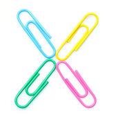 Kolorowe litery x z spinacze. — Zdjęcie stockowe