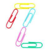 Colorful number two from paperclips. — Stock Photo