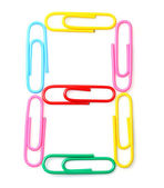 Colorful number eight from paperclips. — Stock Photo