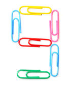Colorful number nine from paperclips. — Stock Photo