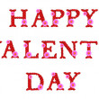 The Words Happy ST. VALENTINE'S DAY  — 图库照片