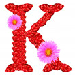 K Letter In Rose Letter K from red leaves and