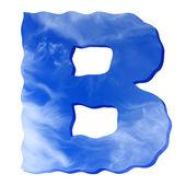 Cloud písmeno b — Stock fotografie