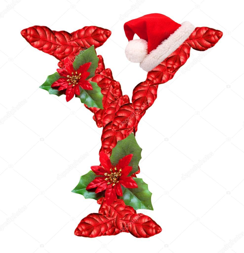 Christmas letter Y with Santa Claus cap. — Stock Photo © vladvitek ...