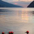Evening scenery of The Lake Garda — Stock Photo