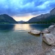 Night storm over a Grundlsee Lake — Stock Photo