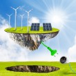 Green energy.  Renewable resources concept. — Stok fotoğraf