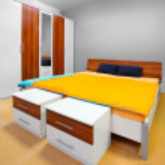Modern bedroom. — Stock Photo
